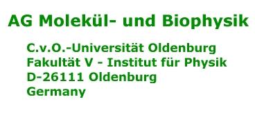 AG Molekül- und Biophysik,C.v.O.-Universität Oldenburg